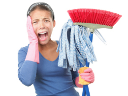 Image result for photo of frantic house cleaning